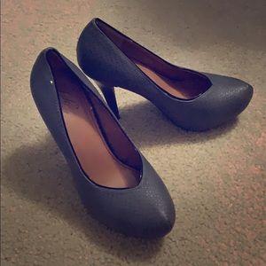 Grey closed toe stilettos